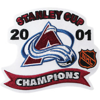 2001 NHL Stanley Cup Final Colorado Avalanche Champions Jersey Patch Emblem Logo