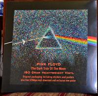 PINK FLOYD~DARK SIDE MOON~RARE SEALED OOP 180-GR AUDIOPHILE LP w/POSTER+STICKERS