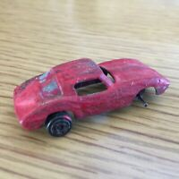 Tootsie Toy Company Red Sports Car 1960s Tiny Automobile #2 Missing Wheels