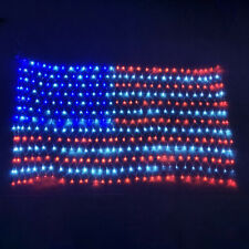 American Flag LED Lighted Net Outdoor Yard Home Decoration Patriotic Spirit USA