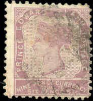 1862-1865 Used Canada PEI 9d F Scott #8 from the Queen Victoria Stamp