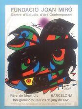 Joan MIRO Affiche Originale Lithographique 1976 signée (70x50cm) Garantie 42ans