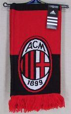 ADIDAS AC Milan ACM FC Football Soccer Officially Licensed Scarf NEW NWT