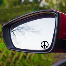 2 Stück Peace Frieden Shocker Hippie Hipster OEM Sticker Auto Aufkleber JDM 4cm