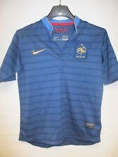 Maillot Equipe de FRANCE n°9 2012 2013 NIKE bleu domicile shirt enfant 10 12 ans