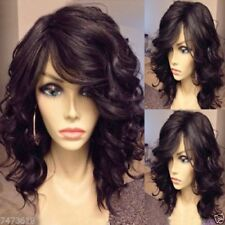 LMRA229  fancy charmed short dark brown curly hair wig  wigs wavy women