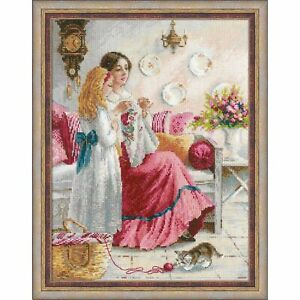 RIOLIS 1789  Stitching Lessons  Counted cross stitch kit  Aida 18 count