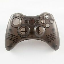 Black Custom Crystal Clear Wireless Controller Shell Case For XBox 360 Pad