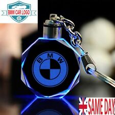 New BMW LED Car Logo Keychain Fairy Light Changing Keyring Car Key Chain Keyfob