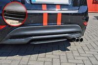 Diffusor Mittelteil Spoiler aus ABS Ford Fiesta Sport JA8 Facelift schwarz glanz