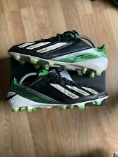 Adidas Adizero F50 leather Black / Green / White Size UK 10 Rare Football Boots