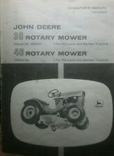 John Deere 110 Round Fender Lawn Garden Tractor 38 46 Mower Owner & Parts Manual