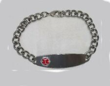 Medical ID Alert Bracelet,8 inches,Engravable,stainless