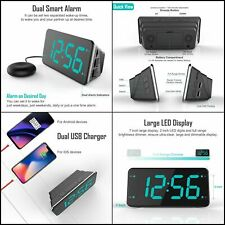 Loud Digital Alarm Clock with Super Bed Shaker Vibrating for Heavy Sleepers Deaf