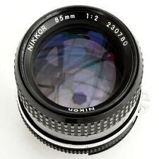 Nikon Nikkor 85mm f/2 AI Supr shp Man Fcs Lens. Exc++++. Tested see Images