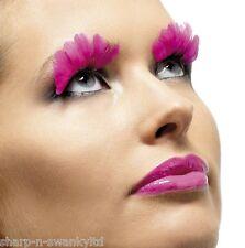 Onorevoli lunga Neon Rosa Piuma Party CIGLIA Burlesque Drag Queen Costume