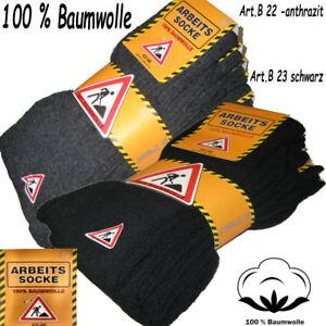 Arbeitssocken 100% Baumwolle socken Arbeitsstrümpfe Baumwollsocken Strümpfe