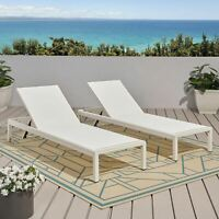 Cherie Outdoor Chaise Lounge (Set of 2)