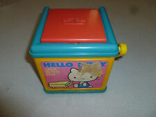 VINTAGE SANRIO HELLO KITTY MUSICAL JACK IN THE BOX CHILD GUIDANCE CBS TOYS 1983