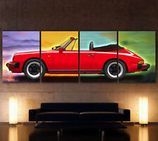 XXL POP ART RED PORSCHE 911 CARRERA 3,2 Leinwand Bild Boxer Turbo Targa G-Modell