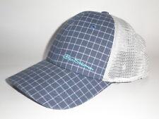 Ben Sherman CHECKED OUT Flexfit Hat Lite Blue Navy White S/M ($25) NEW Cap Mesh