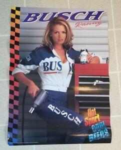 BUSCH Beer Racing Vintage 1996 Poster
