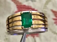 Natural Zambian Emerald Band Victorian Emerald Ring Zambian Emerald