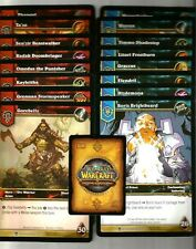 WORLD OF WARCRAFT Heroes of Azeroth Complete 16 OVERSIZE hero promo card set WOW