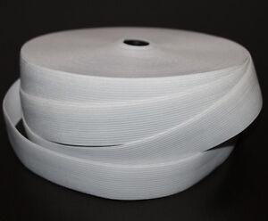1 m Gummiband 40 mm 4 cm Weiss hohe Zugkraft gewebt Rock Kleid Gürtel Hose
