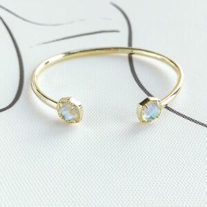 Kendra Scott - Davie Gold Cuff Bracelet Dichroic Glass