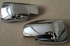 CHROME DOOR WING MIRROR COVERS LAND RANGE ROVER VOGUE L322 06-09 DISCOVERY 3