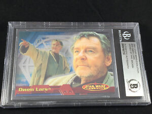 """Phil Brown """"UNCLE OWEN"""" Star Wars Topps Card signed autographed Beckett BAS BGS"""