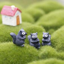 2X Miniature Resin Squirrel Bonsai Figurine-Garden Dollhouse Decor Ornament EWC