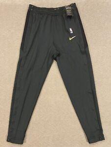 Nike NBA Finals Game Break Away Pants Black Gold Men's Size LT AH4028-010 L-Tall