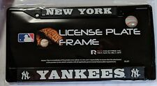 New York Yankees Metal License Plate Frame - Car Truck Auto Tag Holder - Black