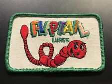 """New listing Vintage """"Fliptail Lures"""" Fishing Patch New Never Used"""
