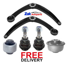 FOR PEUGEOT 308 FRONT RIGHT & LEFT WISHBONE ARM + 2 BALL JOINTS + 2 BUSHES NEW