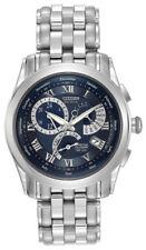Relojes de pulsera Citizen de acero inoxidable calendario perpetuo