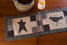 KETTLE GROVE 13x36 TABLE RUNNER : FARMHOUSE PRIMITIVE AMERICAN COUNTRY CROW STAR