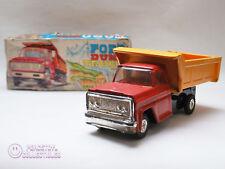 vintage Ford Dump Truck Friction Powered Tin Toy w/original box Japan AOKI