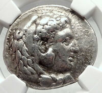 ALEXANDER III the GREAT 323BC Ancient Silver Greek Tetradrachm Coin NGC i73061