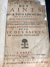 RARE LA VIE DES SAINTS POUR TOUS LES JOURS CHEZ CHARLES ROBUSTEL 1695  C1276
