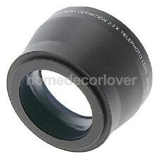 Universal 67MM 2.2X Additional Teleconverter Black For Canon Nikon Sony