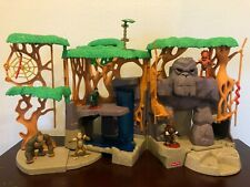 Fisher Price Imaginext Gorilla Mountain Jungle Playset Forest Foldable Toy Set