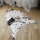 Faux Fur Cowhide Cow Hide Area Rug Floor Mat Gold Foil Stamping Carpet 2.3'x3.4'