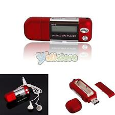 Mini 4GB LCD Screen Display MP3 Music Player USB with FM Radio Function Red