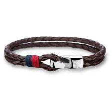 Tommy Hilfiger 2700671 Braided Brown Leather Bracelet