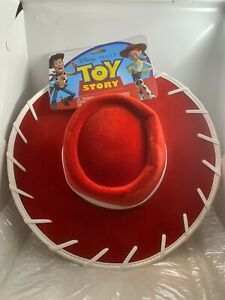 Toy Story Dress Up Disney Pixar Red Cowgirl Felt Hat Jessie Kids Adults NEW