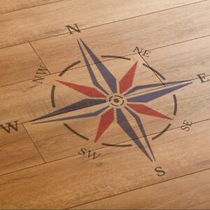 Large Compass Rose Stencil (100 cm x 100 cm) - Reusable Compass Stencil