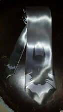 L@@K! Batman Steel Gray Necktie - Joker Catwoman Bat Man